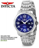 Invicta Eagle Force Collection Blue Dial Mens Watch for $37