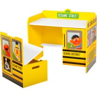 Sesame Street School Bus Desk and Bench Set for $49
